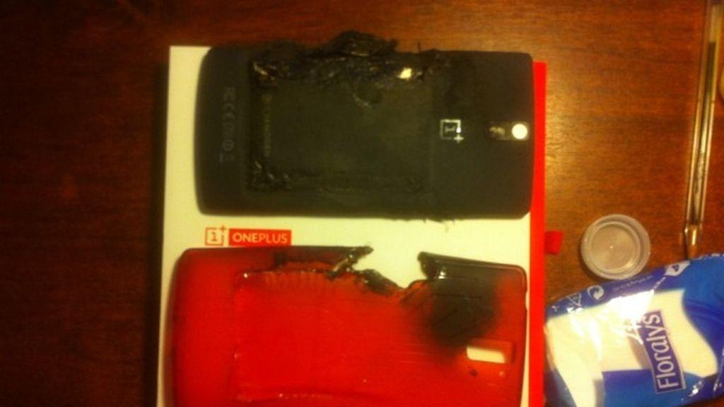 explosión de smartphone,OnePlus One,MiyZu,usuario,quemaduras