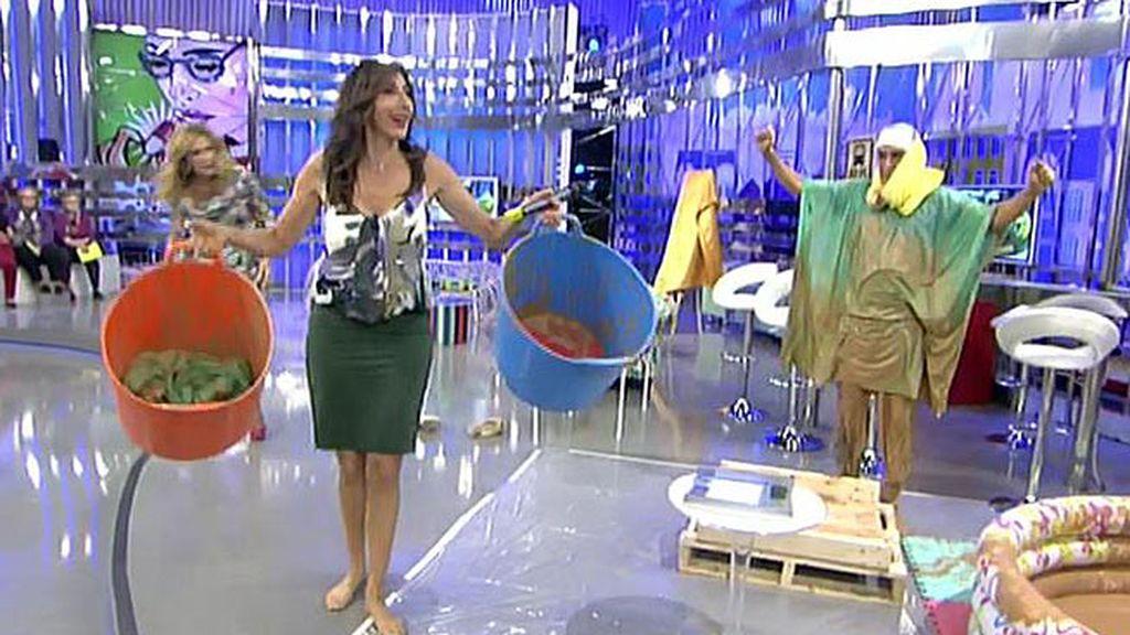 Kiko Hernández emuló a Chabelita y se metió barro en la boca