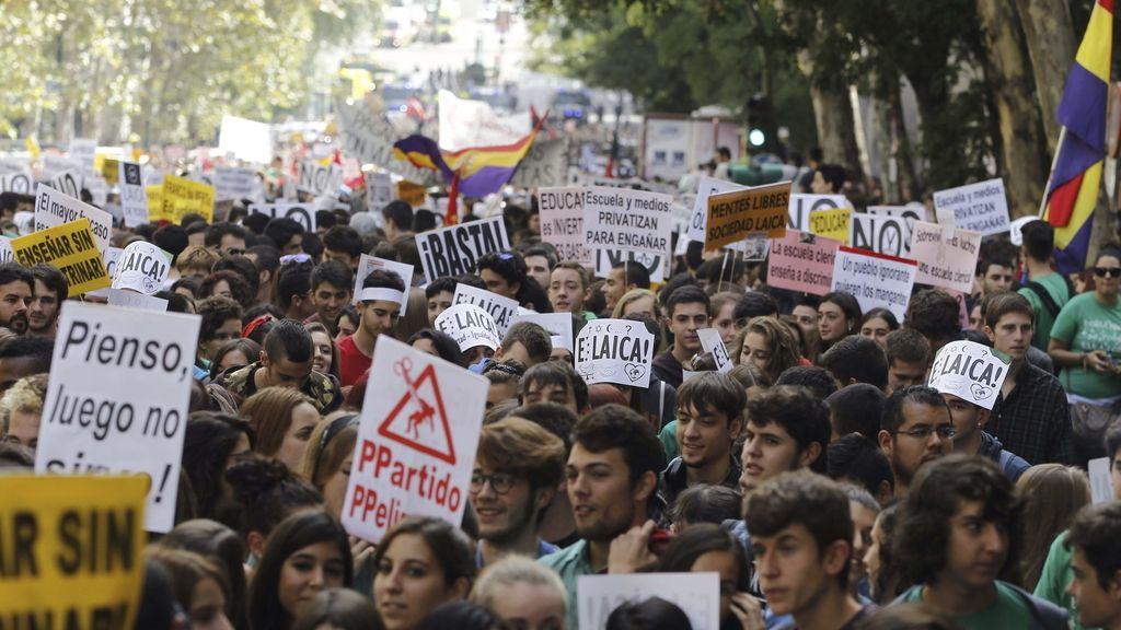 Estudiantes se manifiestan en Madrid