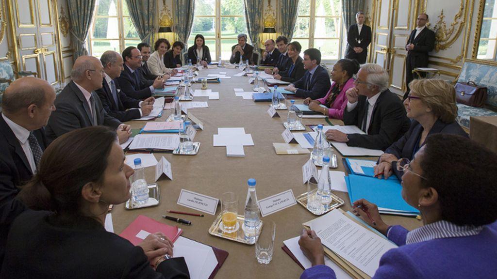 Reunión semanal del consejo de ministro de Francia