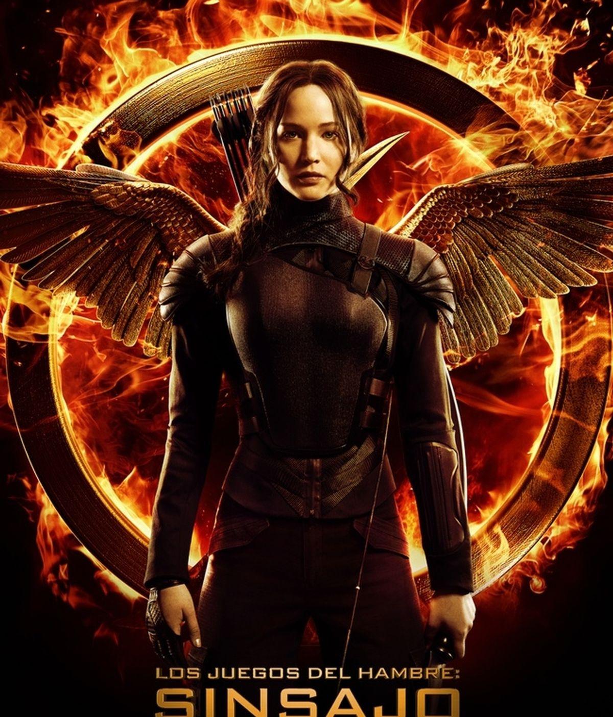 Jennifer Lawrence luce alas en el cartel final de Los juegos del hambre: Sinsajo