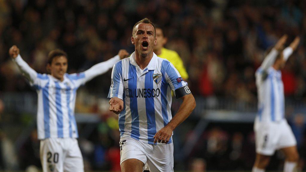 Duda celebra su gol al Anderlecht