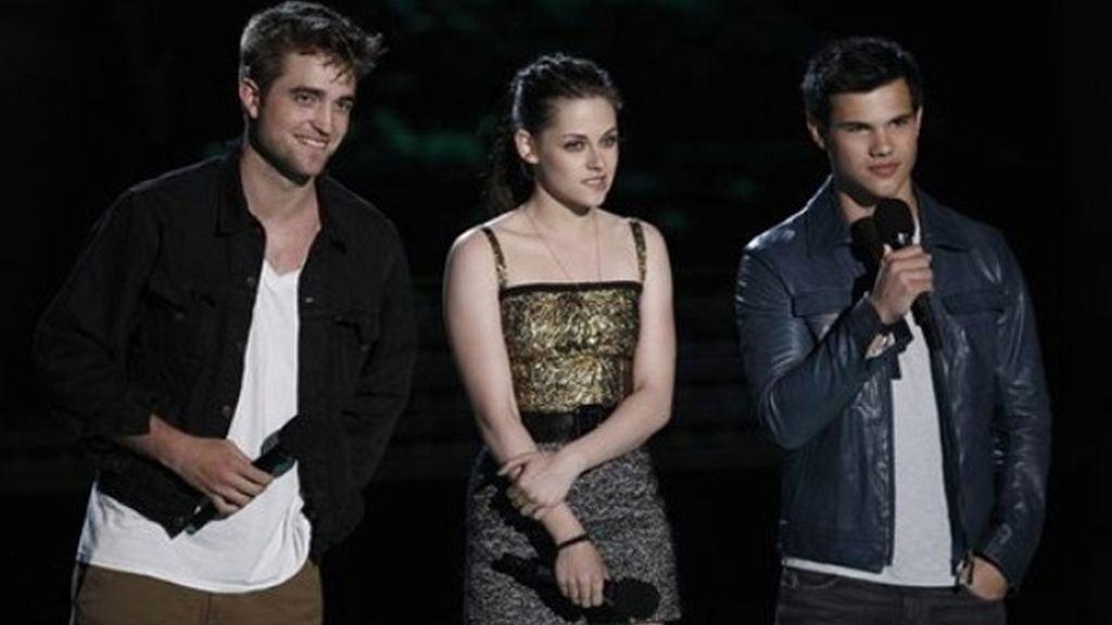 Pattinson, Stewart y Lautner