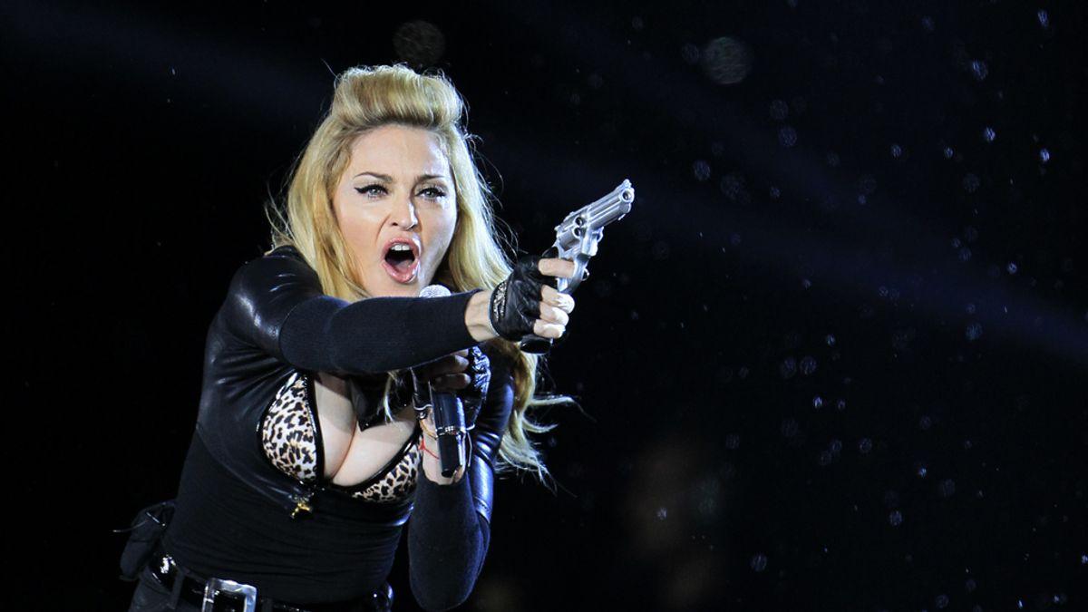 Madonna en el concierto de Bruselas