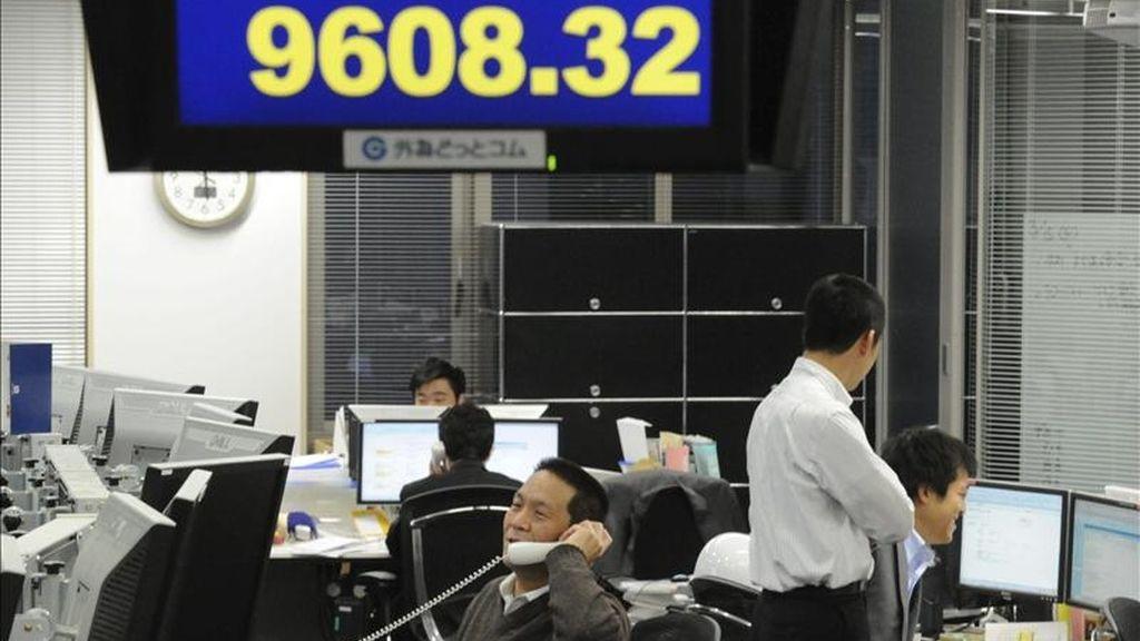 El índice Nikkei en la Bolsa de Tokio (Japón). EFE/Archivo