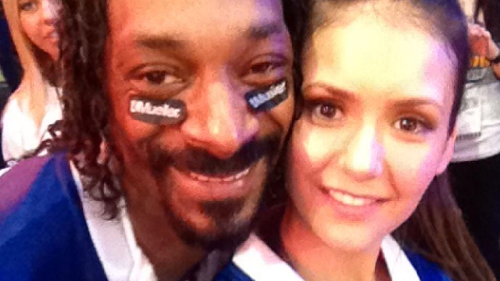 Snoop Dog en el Twitter de Nina Dobrev