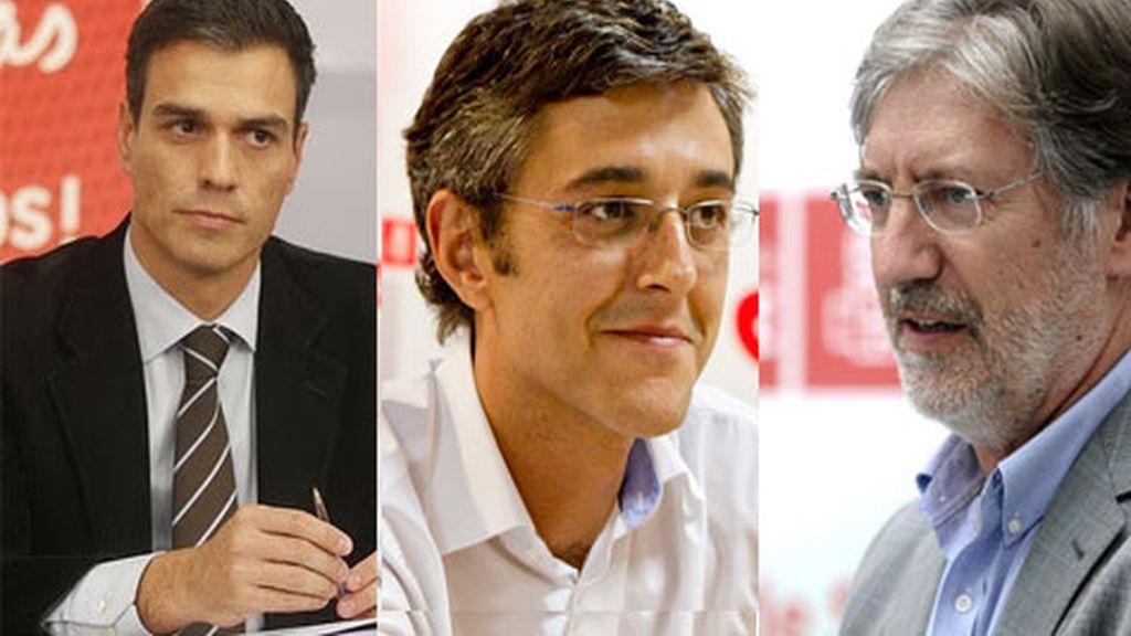 Sánchez, Madina y Pérez Tapias, candidatos definitivos a liderar el PSOE
