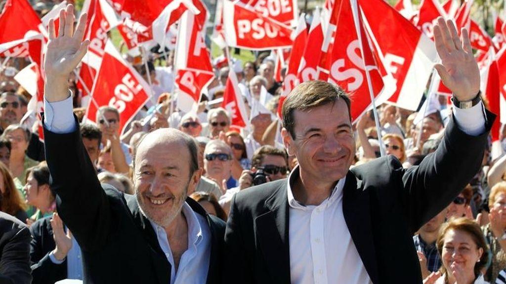 Alfredo Pérez Rubalcaba y Tomás Gómez