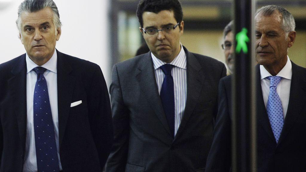 Luis Bárcenas y su abogado, Alfonso Trallero