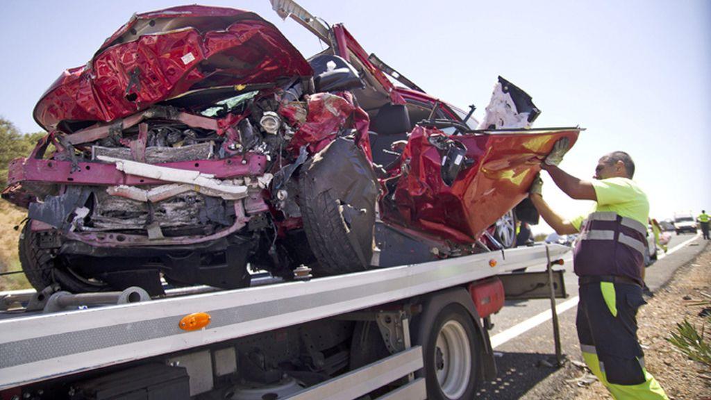 Accidente de trafico en la A-66 a la altura de El Ronquillo (Sevilla)