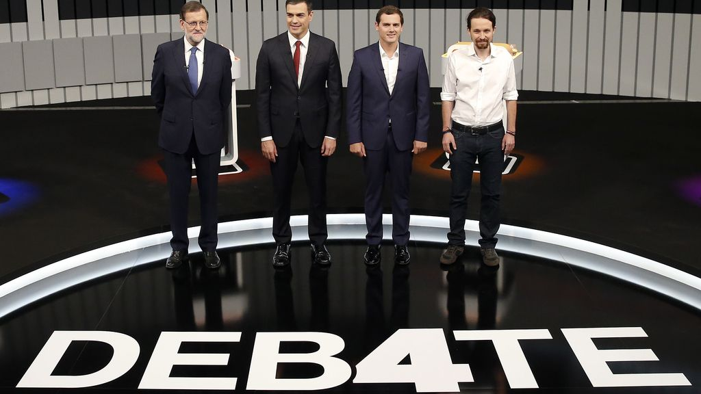 Los cuatro candidatos, en plató