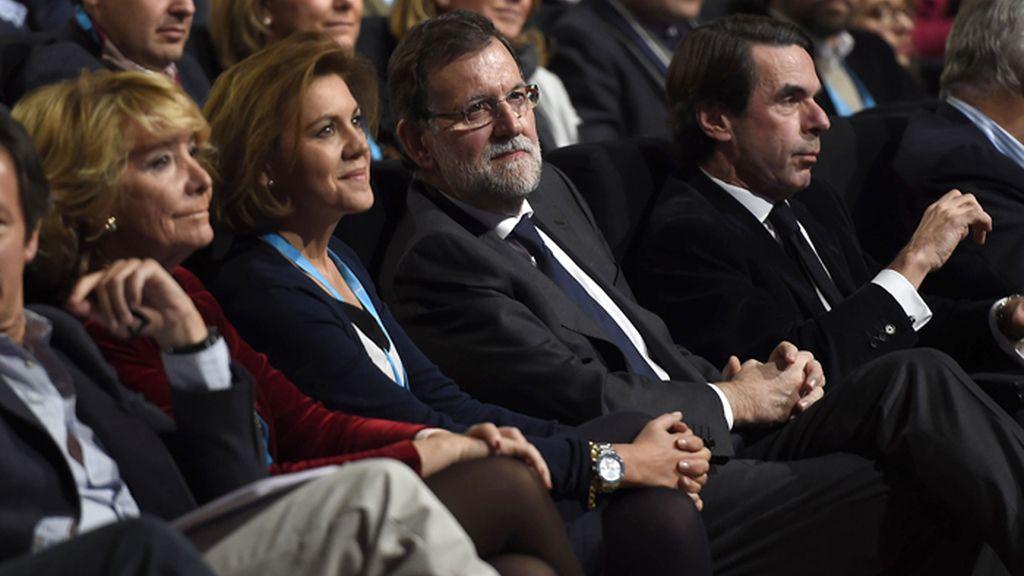 Los líderes del PP asisten a la inauguración de la Convención Nacional del partido en Madrid