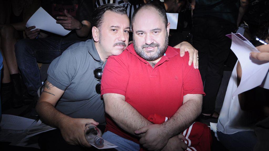 El director de cine Felix Sabroso y el actor Jorge Calvo, íntimos amigos de Carlos Díez.