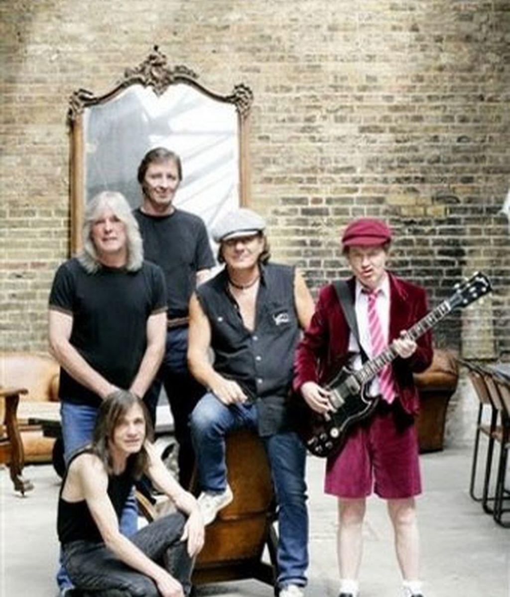AC/DC durante la presentación de su gira mundial 'Black Ice', la primera desde 2001. Foto: AP