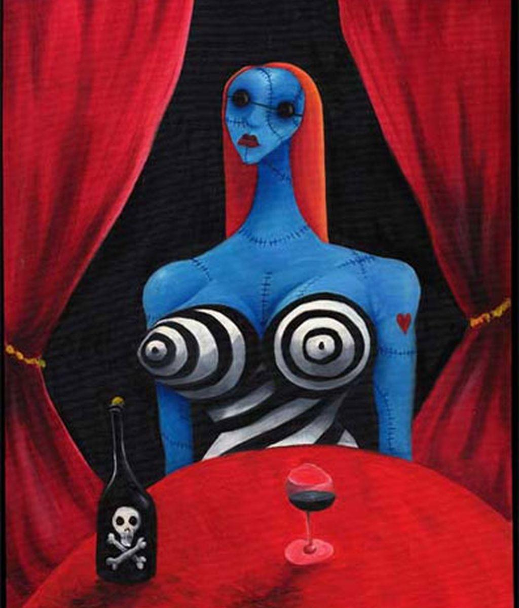 'Chica azul con vino' (1997)