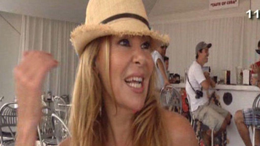 Ana Obregón, encantada en Miami