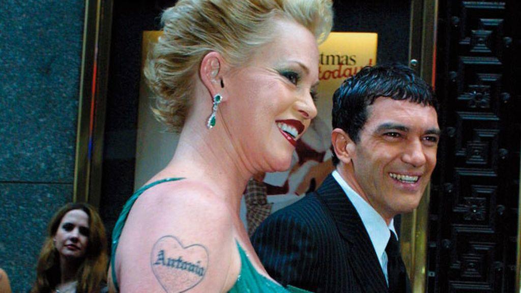 Melanie Griffith se tatuó el nombre de Antonio