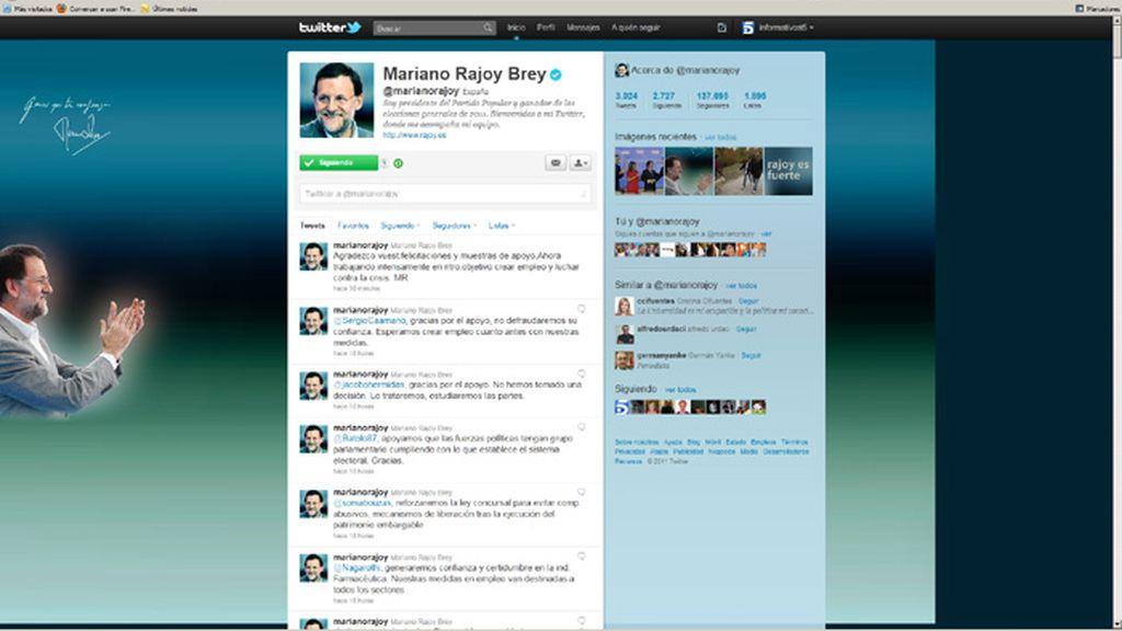 Mariano Rajoy vuelve a la red social cuatro días después de ganar las elecciones.
