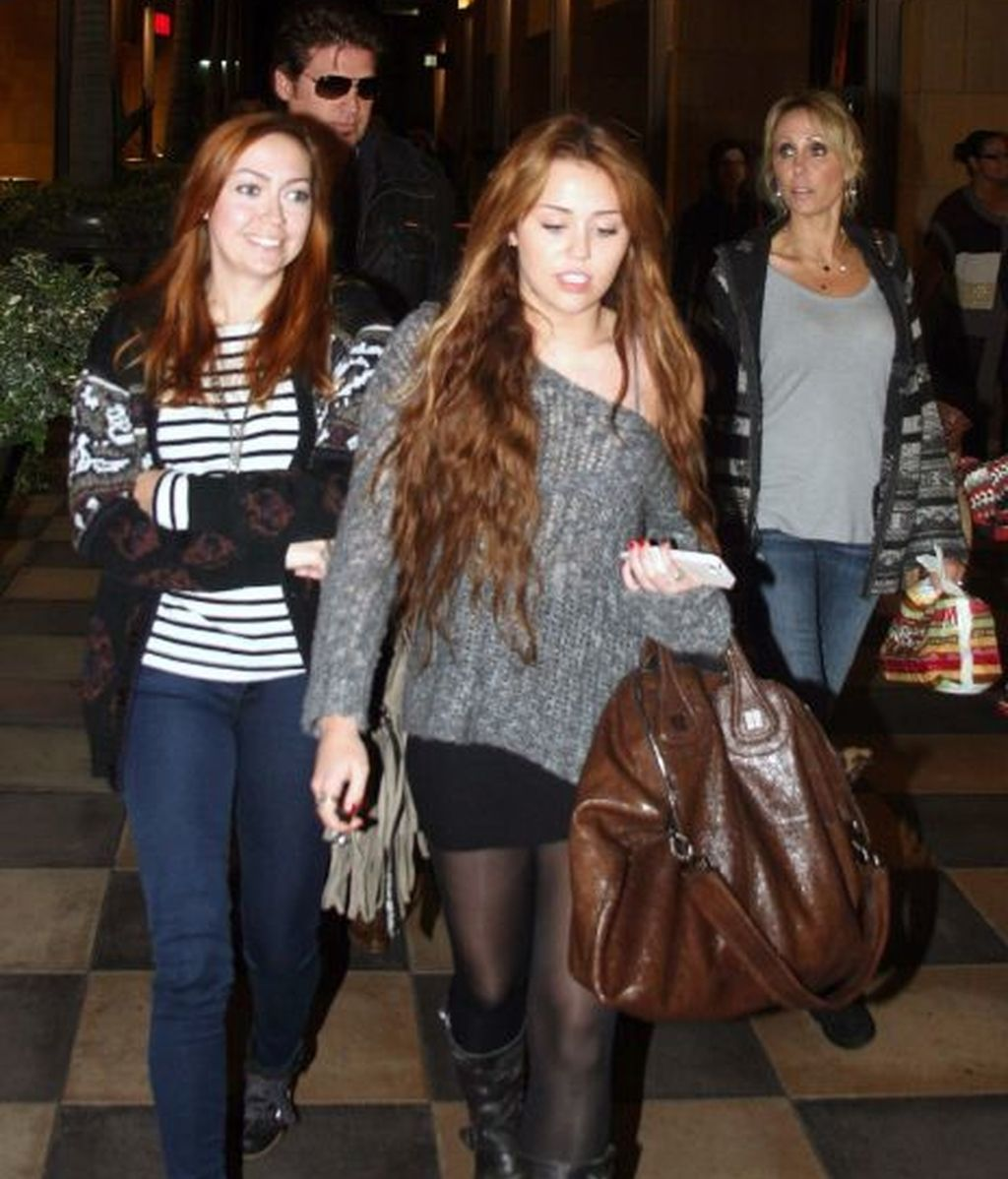 La familia de Miley, muy unida