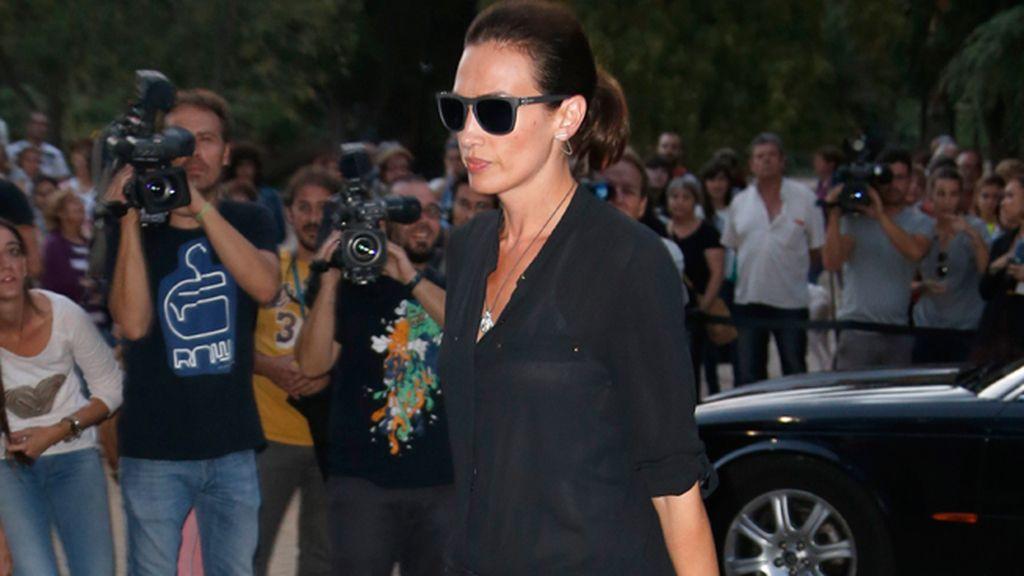 Nieves Álvarez fue una de las representantes de la moda que acudió