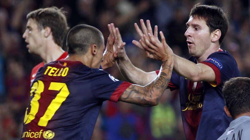Messi y Tello resucitan a un Barcelona que tuvo que sudar para ganar