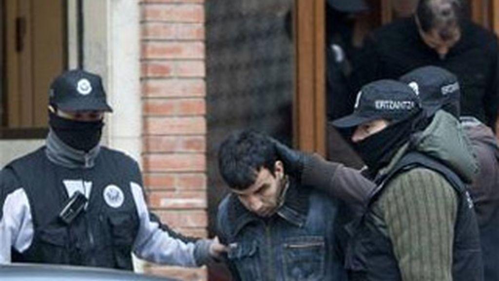 Argelinos detenidos en Vitoria por vinculación con el terrorismo islámico. Foto: EFE