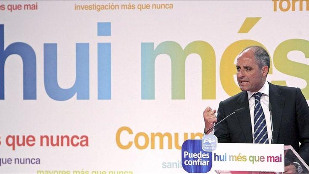 El presidente del PP-CV, Francisco Camps. EFE/Archivo