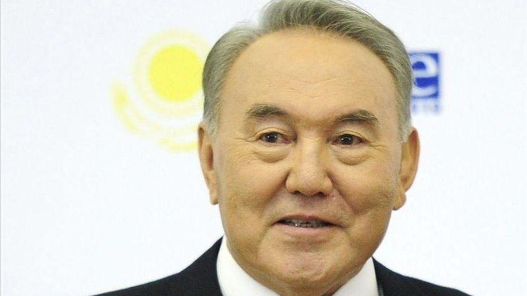 El presidente kazajo, Nursultán Nazarbáyev. EFE/Archivo