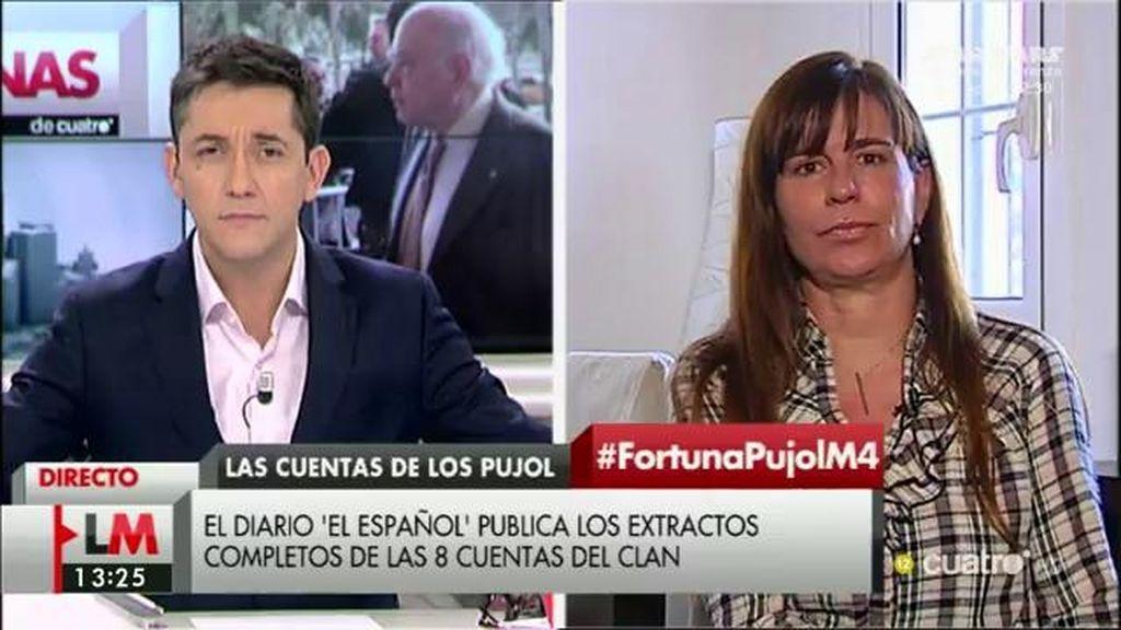 "Victoria Álvarez, sobre los Pujol: ""A mí me gustaría buscar responsabilidades políticas"""