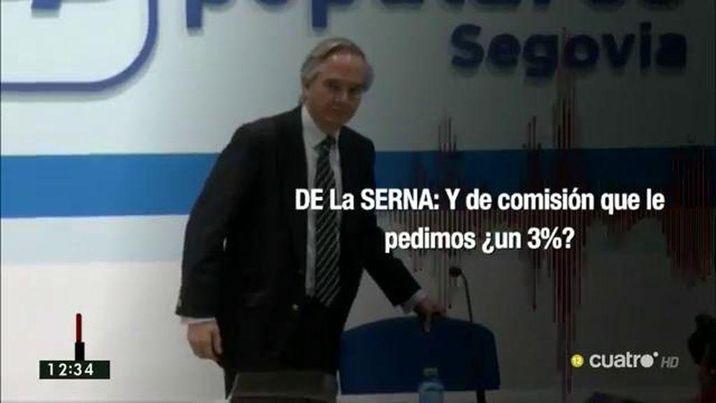 De la Serna y Arístegui negociaron dos comisiones por un total de 3 millones en Panamá
