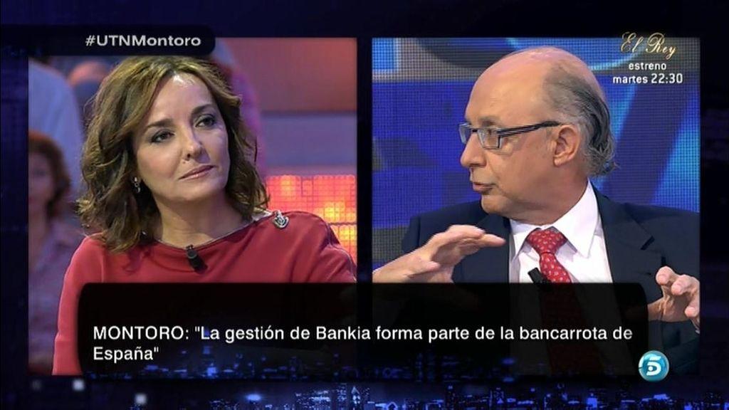 """Cristóbal Montoro: """"La gestión de Bankia forma parte de la bancarrota de España"""""""