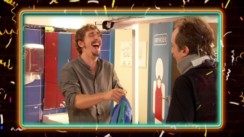 La risa más contagiosa de Iván Massagué en el rodaje de 'Gym Tony'