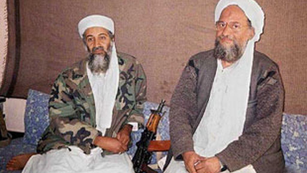 Osama Bin Ladem y Ayman al Zawahiri en Afganistán en 2001. Foto: EFE