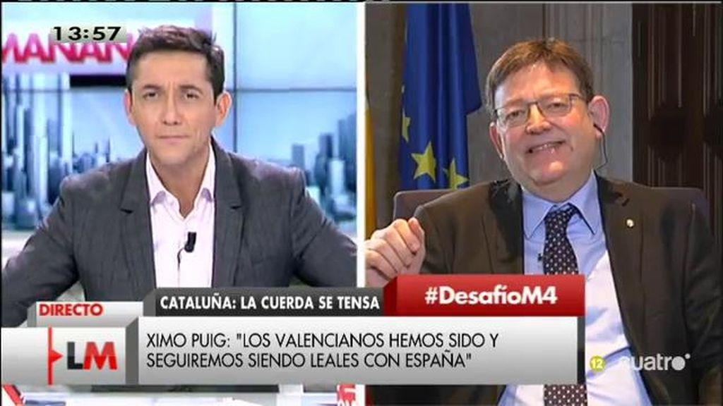 La entrevista con Ximo Puig, a la carta