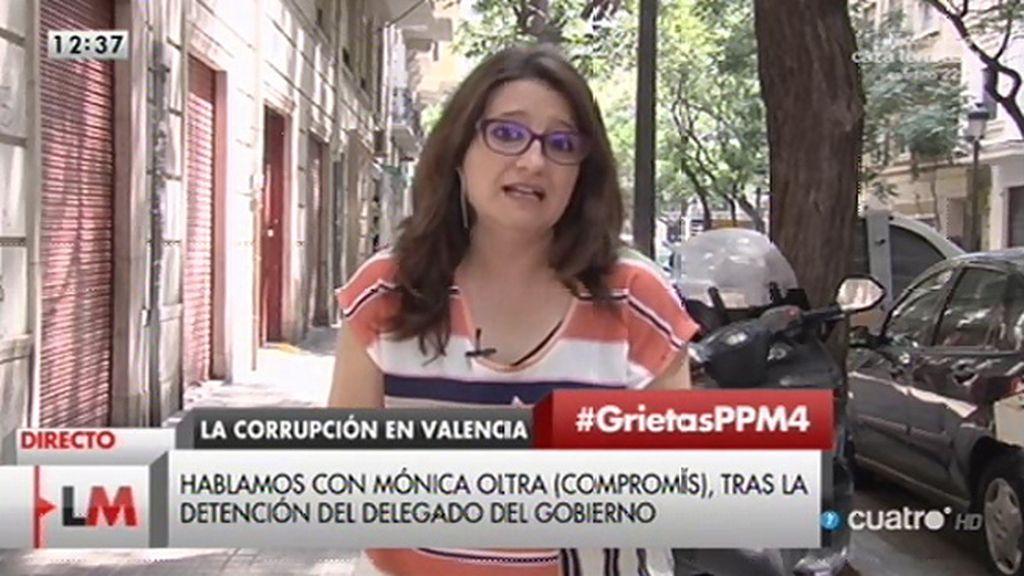 """Oltra, tras la detención de S. Castellano: """"A medida que se desmorona el poder del PP, más se sabe"""""""