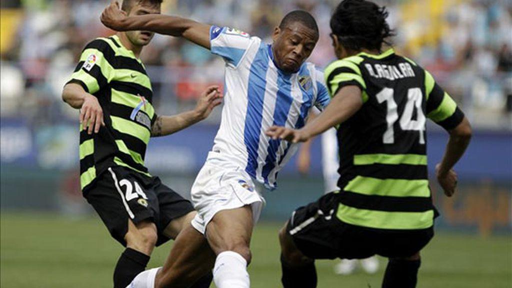 Julio Baptista sigue en racha: dos nuevos goles ante el Hércules. Foto: EFE