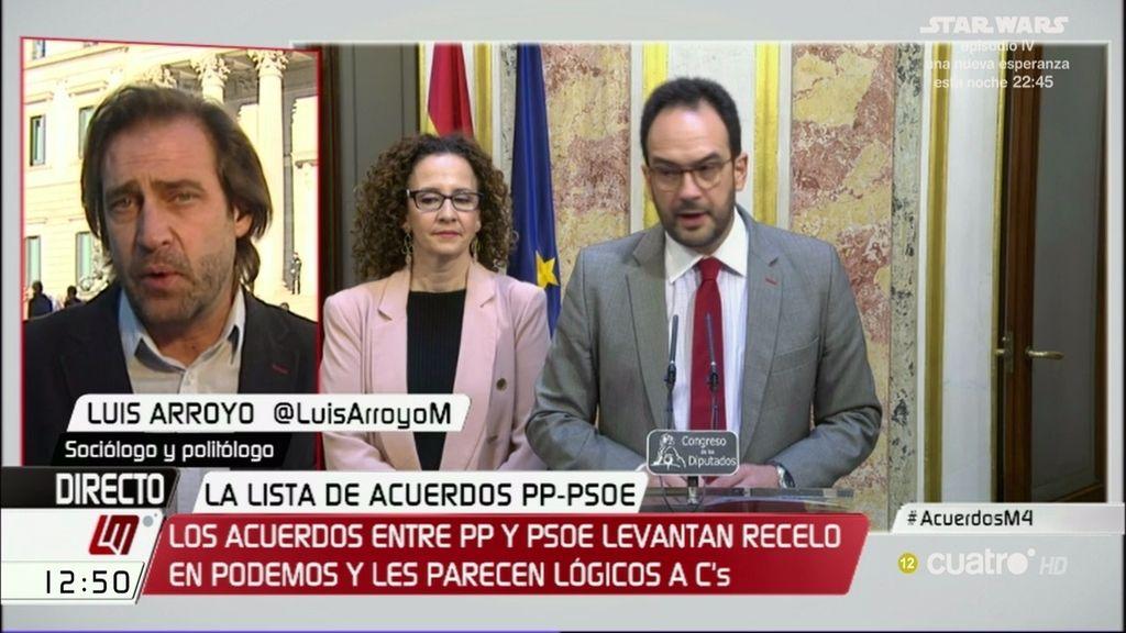 """Luis Arroyo: """"Susana Díaz está midiendo la temperatura del agua para ver si se lanza"""""""