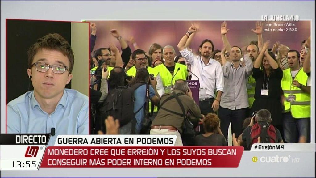 """Errejón: """"Todos estamos de paso en Podemos, también Pablo Iglesias"""""""