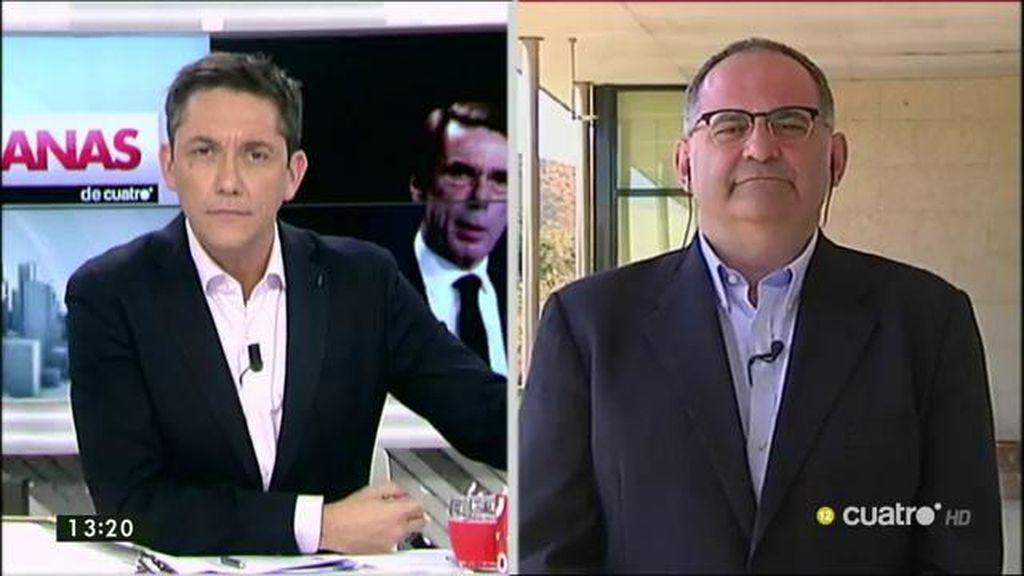 """Antón Losada: """"Ni Aznar y ni Aguirre dan el perfil de víctimas ante un sistema cruel"""""""