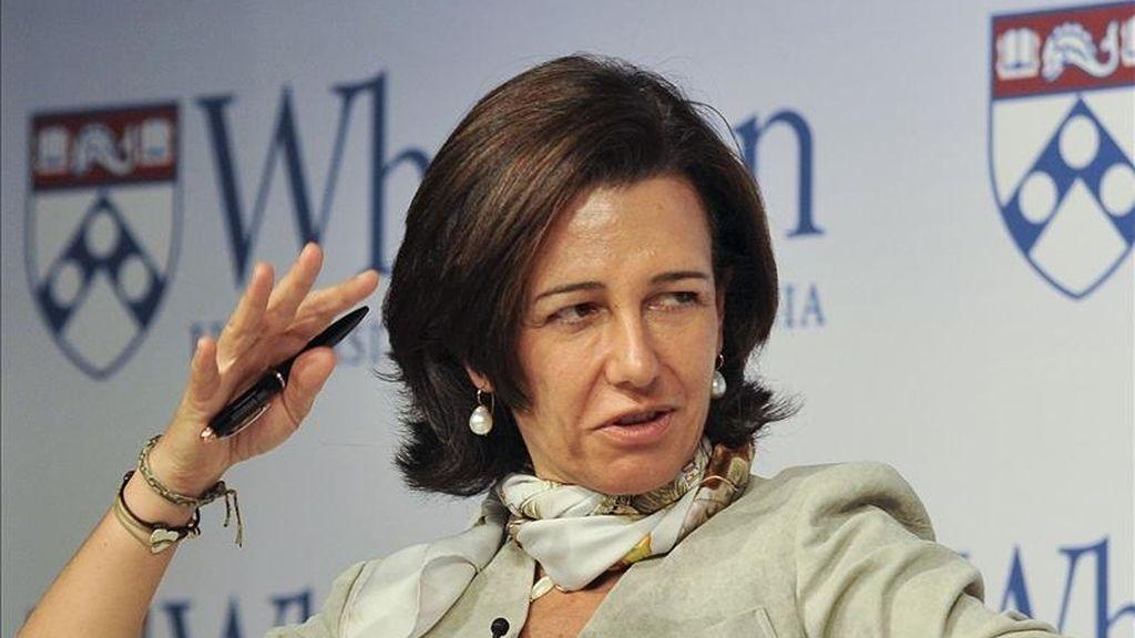 La directora de la filial británica del Santander, Ana Patricia Botín. EFE/Archivo
