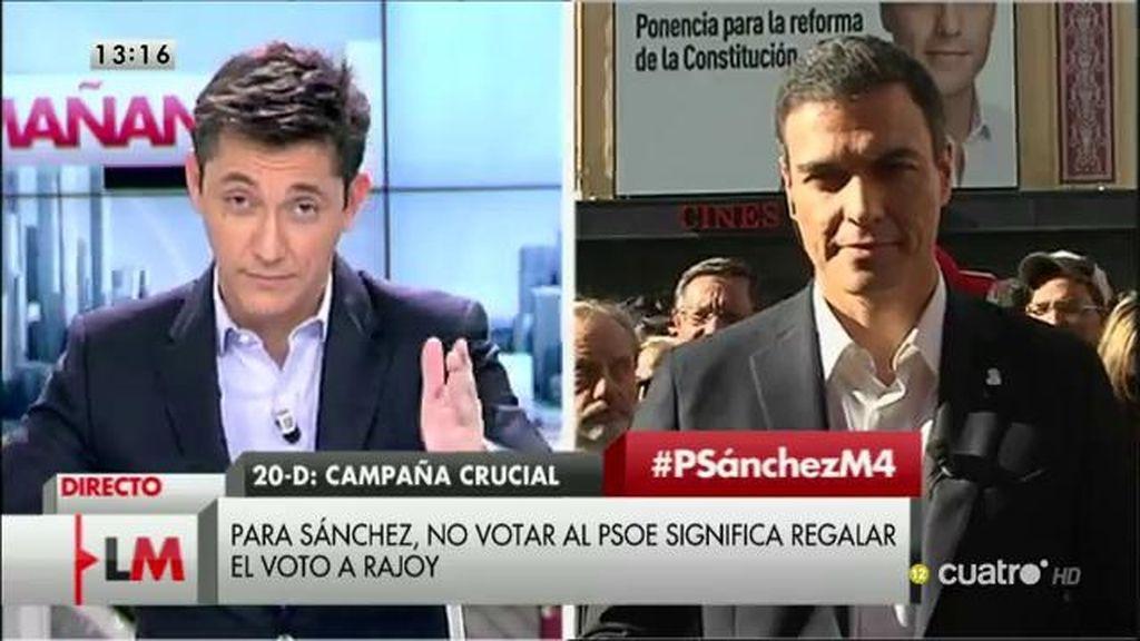 """Pedro Sánchez: """"Somos los únicos que podemos ganar al PP"""""""