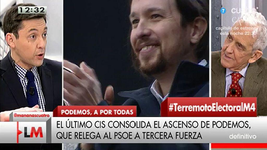 """Pedro Schwartz, economista: """"Me inquieta Podemos y su gente"""""""