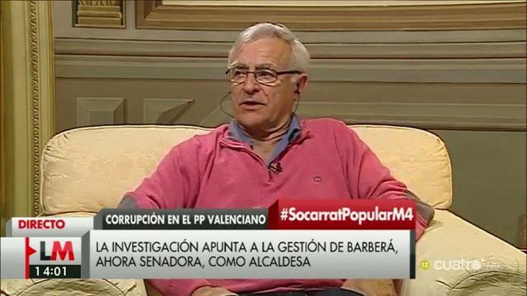 """Joan Ribó, del PP valenciano: """"Si este partido se ha financiado de forma ilegal en sus campañas, esa victoria no es legítima"""""""