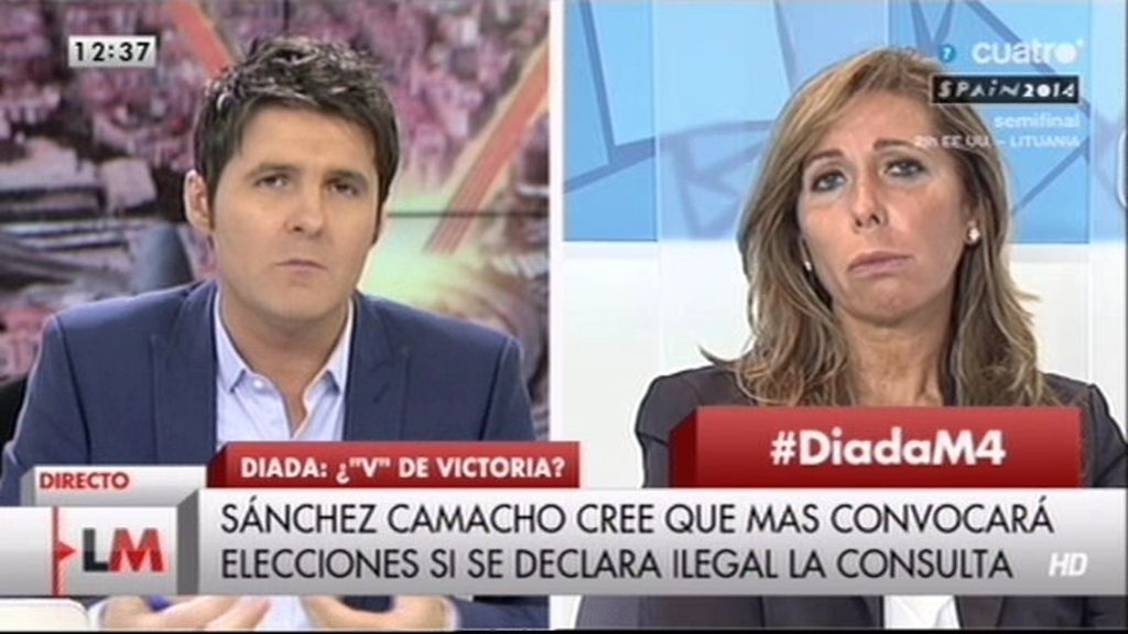 """Alicia Sánchez-Camacho: """"Mas ha provocado la fractura entre los catalanes y los españoles"""""""