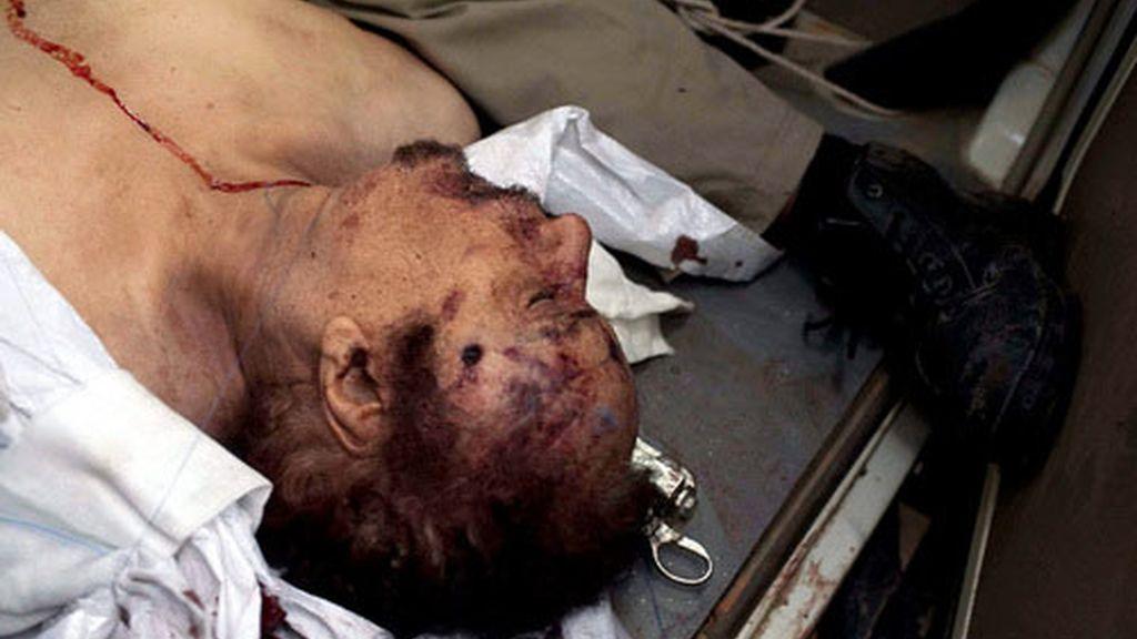 Imagen de archivo del cadáver de Gadafi