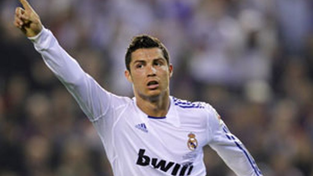 Cristiano Ronaldo celebra el gol que le dio al Real Madrid la Copa del Rey. Foto: GTres