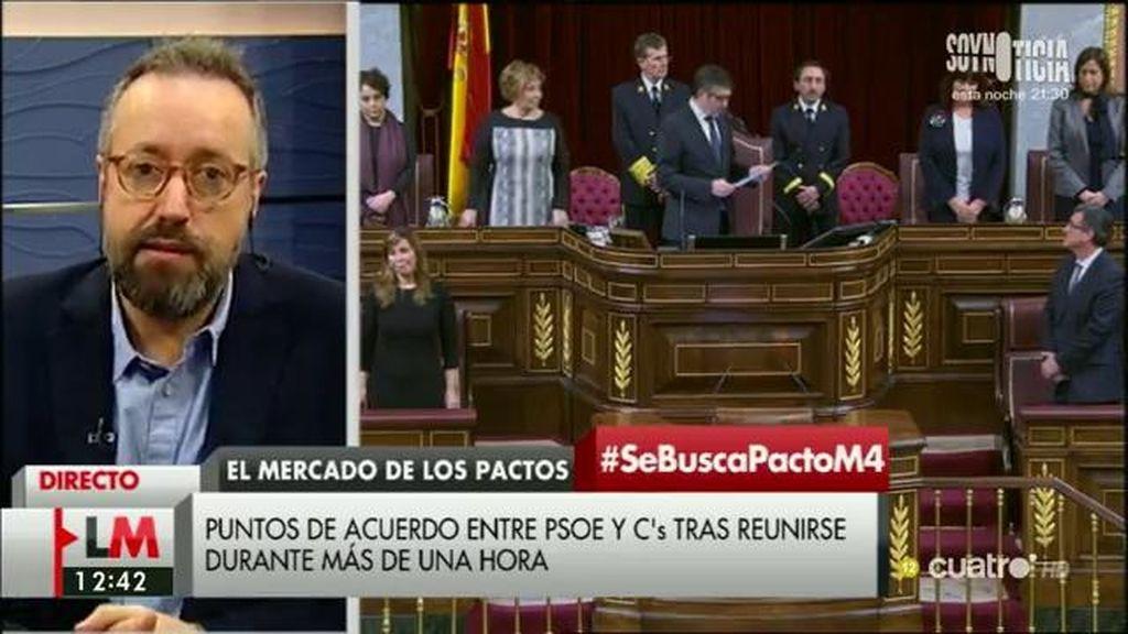 """J. C. Girauta: """"Lo que no es nueva política es la pinza que se está haciendo entre el PP y Podemos para precipitar las elecciones"""""""