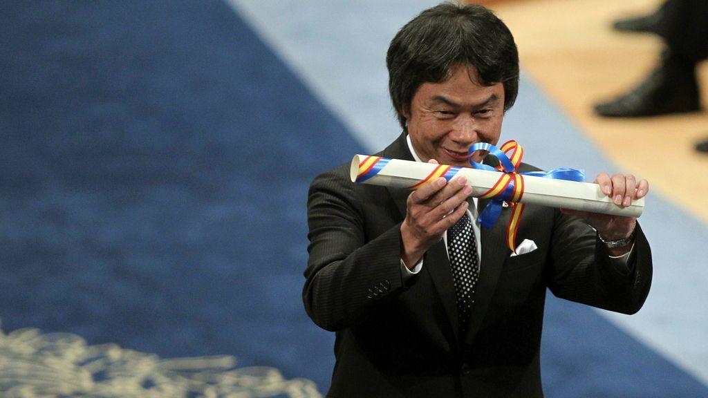 El padre de Mario Bros, Shigeru Miyamoto, tras la recogida del Premio Príncipe de Asturias de la Comunicación