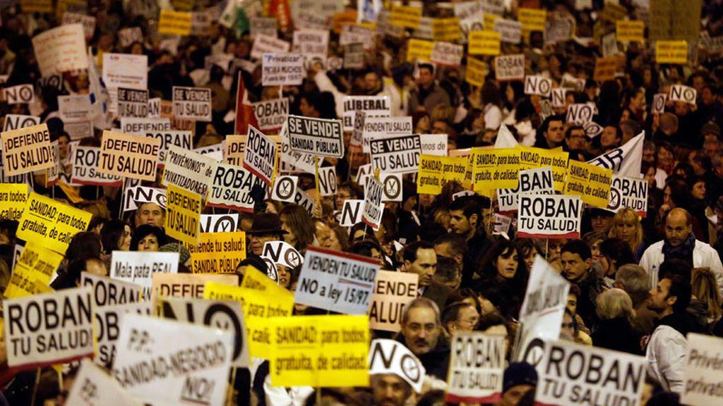 Manifestación contra los recortes en Sanidad en Madrid