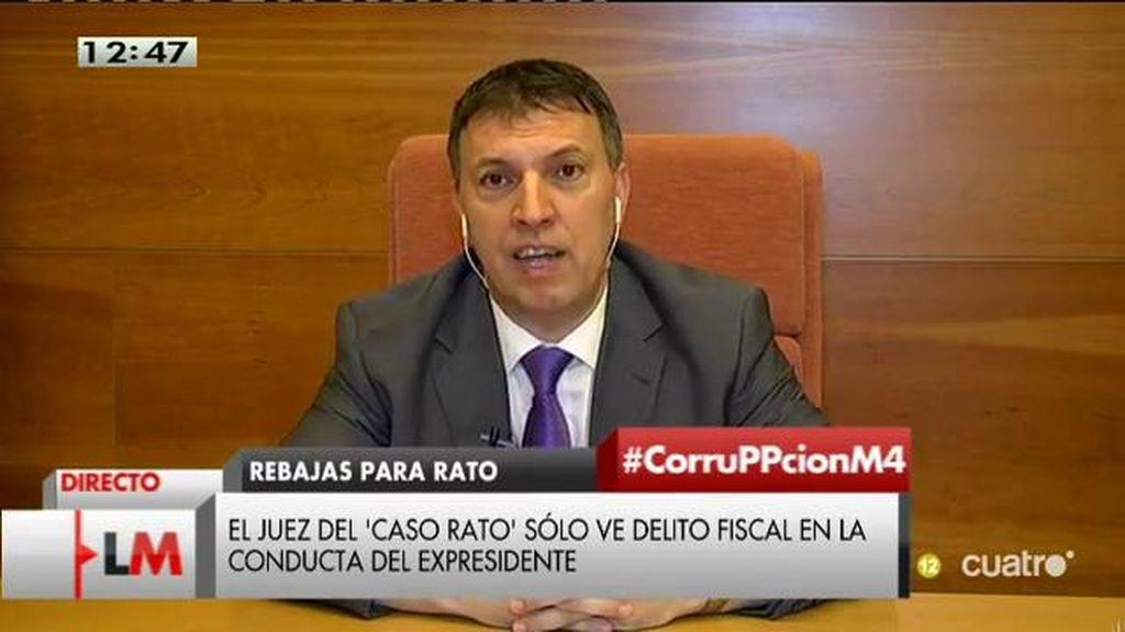 """J. Bosch: """"Debo desmentir al Ministro de Justicia de que no hay corrupción, solo hay que ver los datos objetivos"""""""